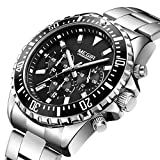 SBDONGJX Negocio Reloj de Cuarzo Hombres Relogio Masculino Ejército de Acero Inoxidable Relojes Militares Cronógrafo Reloj de Pulsera Reloj 2064