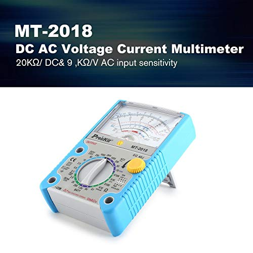 Pudincoco Estándar Pros\'Kit multímetro analógico Seguridad DC voltaje de CA Resistencia multímetro Azul