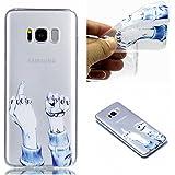 Coque Samsung Galaxy S8 Plus, Samsung Galaxy S8 Plus Housse Silicone Flexible gel TPU Bumper, Cozy Hut® [Liquid Crystal] TPU avec Absorption de Choc, coque housse etui avec Silicone Souple Transparente, Très Légère / Ajustement Parfait / Coque pour Samsung Galaxy S8 Plus - Doigt du milieu et poing