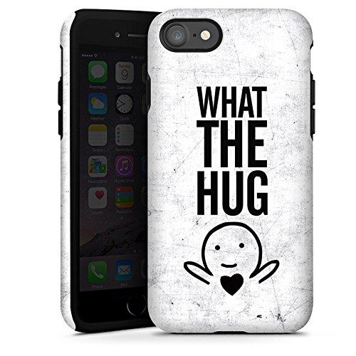 Apple iPhone X Silikon Hülle Case Schutzhülle Liebe Herz Sprüche Tough Case glänzend