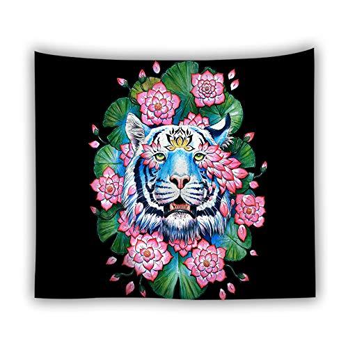 Princess Pfau Kostüm - jtxqe Fabrik direkt Tapisserie Picknick Matte Tier Tapisserie Digitaldruck Wolf Löwe Tiger heiße Wandbehang Wanddekoration 13 230x150 cm