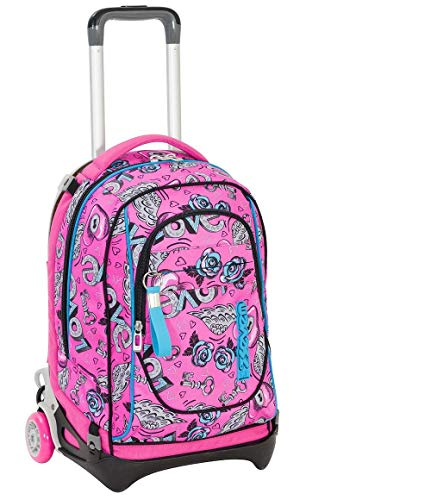 0ea1703f5f Zaino Trolley Seven New Jack 7.1 Girl Sganciabile Keys Colore Rosa