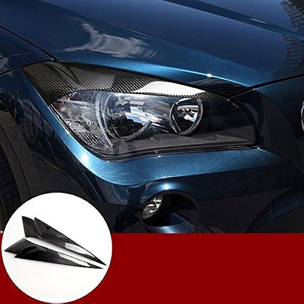 Scheinwerfer Augen Augenbrauen Abdeckung Karbonfaser 2 Stück Für X1 E84 2010 2015 Auto