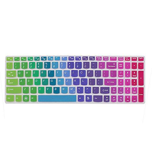 Sourcingmap® Laptop Regenbogen 7 Farbe Silikon Tastatur Folie Abdeckung Film IdeaPad Z560 de (Lenovo Tastatur Y510)