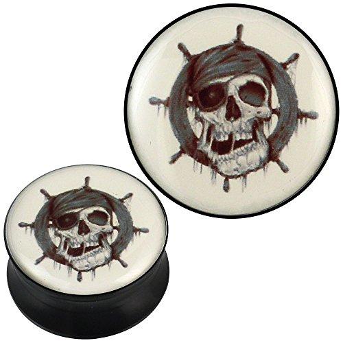 plug-acrylic-pirate-skull-steering-tang-gray-beige-black-piercing-earrings