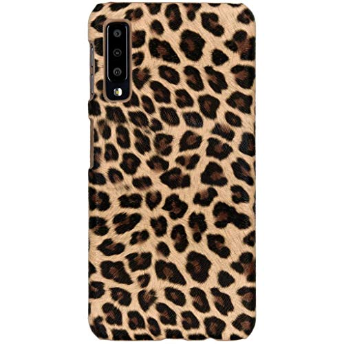 hCase Samsung Galaxy A7 (2018) Hülle - Leopard, Wildkatze, Tiermuster - Hard Case Handyhülle Leopard Hard Case Cover