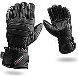 Voll Gepolstert Schutz Leder Motorrad Handschuhe Wasserdicht Thermo - XL