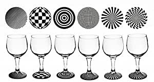 /28/ Set of 6 Wine Glasses Black and White OPTI Stem Classic Luxurious Gift Party by LUXURY HOME ESSENTIALS