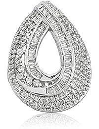 Shaze Rhodium Plated Pear Shape Sparkle Love Ring For Women/Girls   Gift For Her