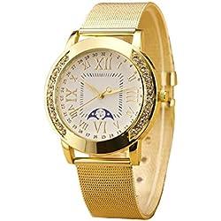 Geneva Platinum Big Size Analog White Dial Women's Watch - GP-215
