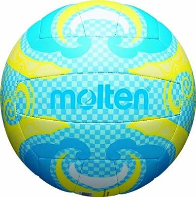 molten Volleyball - Balón de voleibol para exterior ( cuero, outdoor ), color azul / amarillo, talla 5