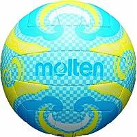 MOLTEN Volleyball - Balón de voleibol para exterior (cuero, outdoor), color azul/amarillo, talla 5