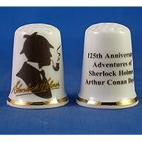 Birchcroft Dé à Coudre Porcelaine Chine À Collectionner - Sherlock Holmes 125ème Anniversaire