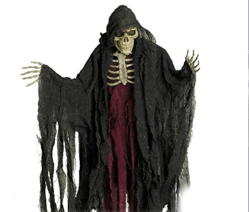 Körper Sammler Body Counter Halloween Sensenmann Gerippe Horror Figur mit Skelett Brustkorb Party Schocker