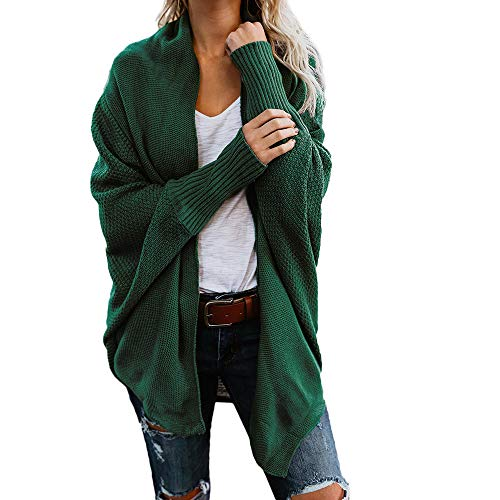 Strickjacke Pullover Kleid (iHENGH Damen Herbst Winter Cardigan Top,Women Lange ÄRmel Solid Color Casual Mantel Pullover Coat Strickjacke Tops)