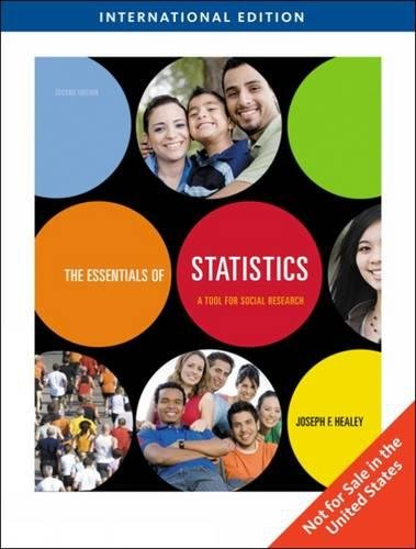 The Essentials of Statistics: A Tool for Social Research, International Edition