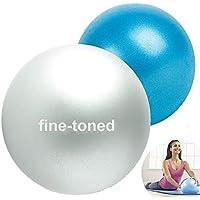 "fine-toned 2 X -EXER SOFT PILATES BALLS 7"" and 9"" -ANTI-BURST + EXERCISE INSTRUCTIONS -strong/anti slip -SOFT OVER BALL/MINI PILATES BALL/PILATES GYM BALL- NEW!!!"