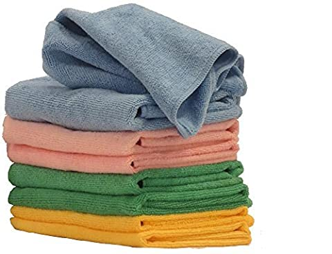 COMFIT MICROFIBER CLOTHS- Premium Cleaning Cloth 40 cm x 40 cm for Home, Car, Boat. Home Essential Cloth for Dusting Furniture, Wiping Down Appliances
