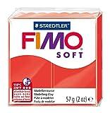 Staedtler - Fimo Soft - Pain Pâte à Modeler 57 g Rouge Indien