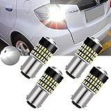 Tuincyn 4er Pack 900 Lumen weiß; S25, 1157 BAY15D, 1157A, 1178A, 1196, 7528 Basis, 3014 78Smd-Linse, LED-Leuchte, für Blinker, Bremse, Rücklicht, LED-Licht