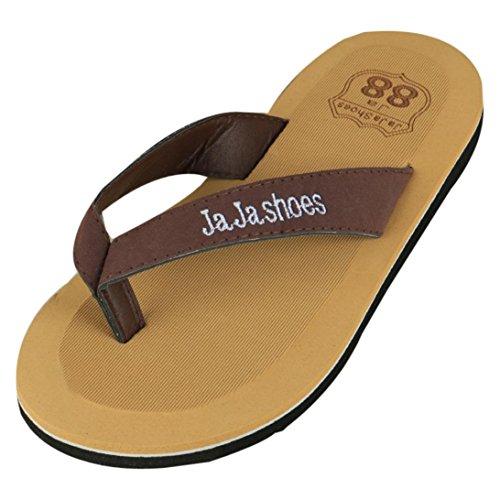 Ouneed® Flip Flops Herren Erwachsene Zehentrenner , Flip Flops Hausschuhe Strand Sandalen Sommer Indoor & Outdoor Hausschuhe Schuhe Braun