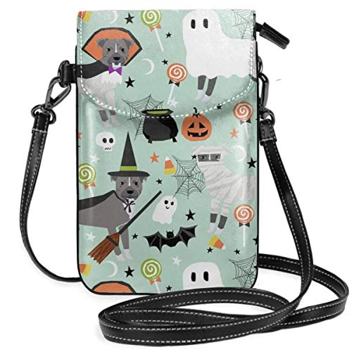 stume Dog Vampire Ghost Mummy Small Cell Phone Purse Crossbody Cellphone Shoulder Bag Smartphone Wallet Purse With Removable Strap ()