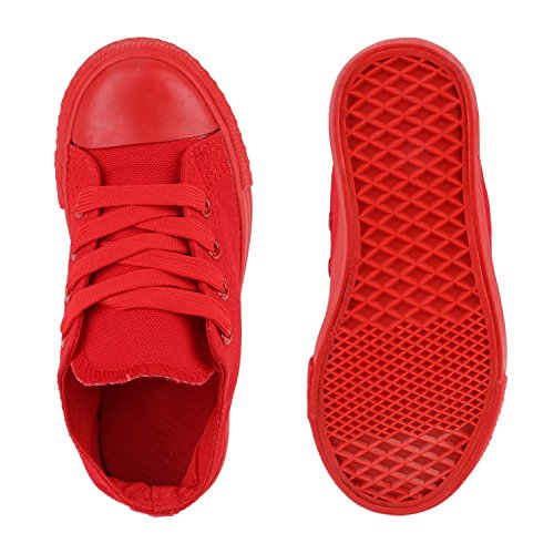 Kinder Sneakers Viele Farben Sportschuhe Turnschuhe Schnürschuhe Rot
