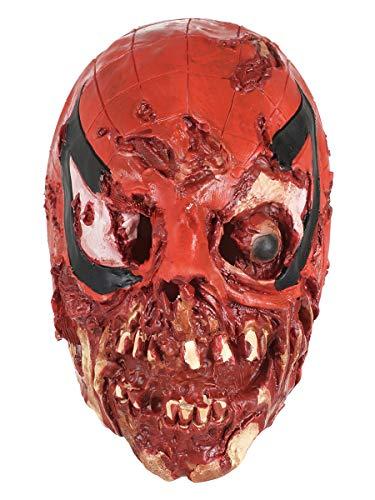CoolChange gruselige Halloween Latex Maske blutiger Peter Parker (Peter Parker Spider Mann Kostüm)