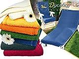 Schonbezug für Gartenstuhl & Gartenliege aus dem Hause Dyckhoff - erhältlich in 6 sommerlichen Farben - mit Kapuze für besseren Halt, Gartenstuhl (60 x 130 cm), blau