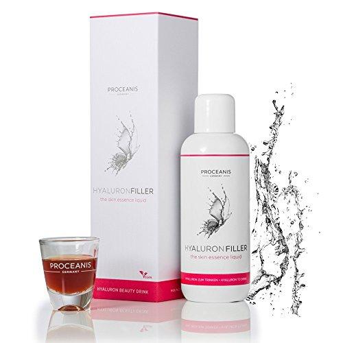 Hyaluron-Filler zum Trinken / Anti-Aging Beauty Drink aus Hyaluronsäure, 25 Tage Frische-Kur für natürlich schöne Haut, 10ml tägl. Vegan, hochdosiert, Made in DE