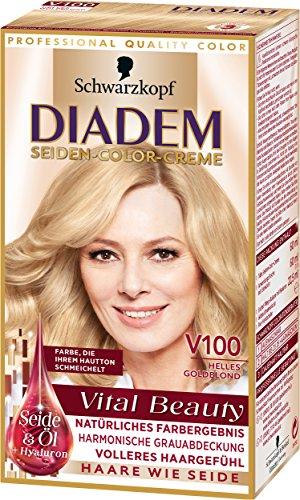 Diadem Seiden-Color-Creme V100 Helles Goldblond Vital Beauty, 3er Pack (3 x 142 ml)