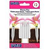 PME FP300 Kleine Blumenstiele, Packung mit 12 Stück, Kunststoff, White, cm, 0.5 x 0.5 x 5 cm, 12 Einheiten
