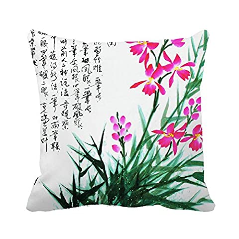 Yinggouen Chinese Ink Painting Decorate For A Sofa Pillow Cover Cushion 45x45cm
