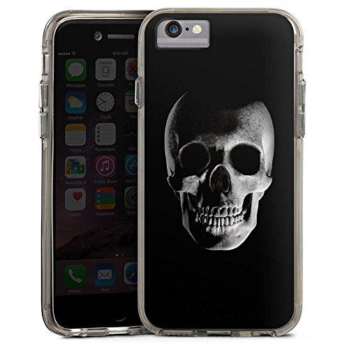 Apple iPhone X Bumper Hülle Bumper Case Glitzer Hülle Skull Schädel Piraten Bumper Case transparent grau