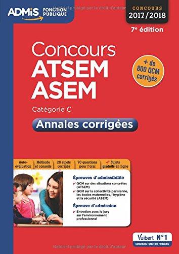Concours ATSEM et ASEM - Catégorie C - Annales corrigées - Concours 2017-2018