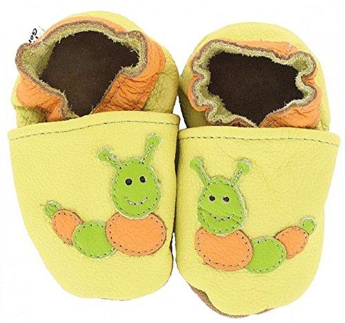HOBEA-Germany Krabbelschuhe in verschiedenen Farben und Designs mit Tieren, Modell Schuhe:Raupe, Schuhgröße:22/23 (18-24 Monate)