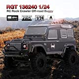 RGT RC Crawler, Camion RC, 1/24 2.4G, 4WD 15KM / H RC Rock Crawler, Monster Buggy HSP Voiture Enfants Jouet, Meilleur Cadeau