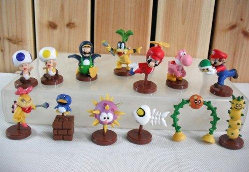 Preisvergleich Produktbild 13 Nintendo NEW Super Mario Figuren ca. 5cm NEU & OVP Luigi aus N64 WII Gameboy DS
