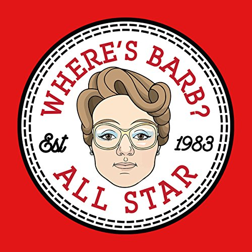 Stranger Things Barb All Star Converse Logo Men's T-Shirt Red