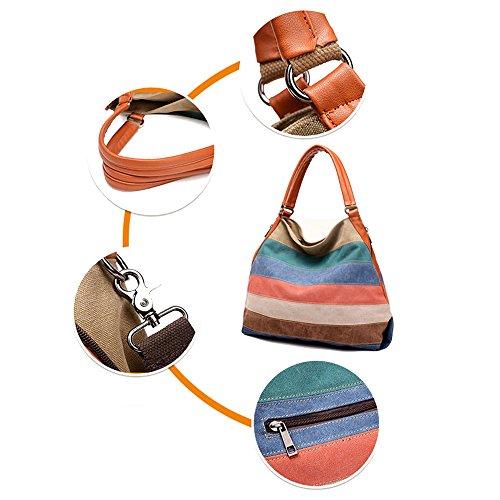 2c05d22990 ... Eshow Handbag Crossbody Shoulder Bag Canvas Tote Bag Longchamps  Multicolor per Donna Ragazza ...