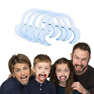 """CkeyiN®5pcs C-forme Ouvre-Bouche Réutilisable pour """"Mâche-Mots"""", inspection orale et le traitement,blanchiment dents,etc?Taille Moyenne 12 * 8 * 1.7cm, Bleu?"""