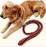 MASUNN M. L. XL mit Halben P Kragen Haustier Acht-Strang Gewebt Große Hundeleine Hundehalsband