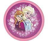 Disney Frozen Die Eiskönigin Elsa und Anna Wanduhr Kinderuhr (301631), Durchmesser 25 cm, rosa