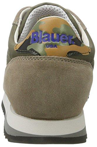 Blauer USA Runlow, Baskets Basses Homme Vert