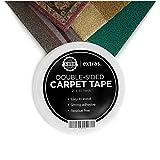 Stärkstes doppelseitiges Klebeband für Teppich, Läufer oder Matten – 5cm x 22m stark belastbar