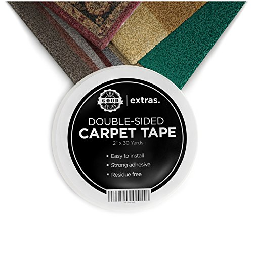 "Double Sided Carpet Rug Tape - Keep Runners, Carpets, Rugs and Mats in Place - Extreme Strength Heavy Duty Tapes for Indoor and Outdoor Use - 5cm x 23m / 2"" x 75ft Roll Test"