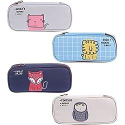 Manyo estuche escolar Kawaii huella de Animal caja de lápiz lienzo bolsa de lápiz papelería, color c 20cmx9cmx4cm/7.87inx3.54inx1.57in