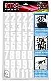 MDS Brand 20mm Klebezahlen - 208 Stück - Weiss Selbstklebend Nummer Aufkleber (2cm, Weiss)
