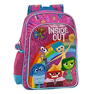 51 bCjQN2QL. SS300  - Disney Inside out Mochila Escolar Adaptable a Carro, Color Rosa, 19.2 litros