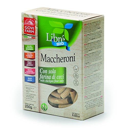 Maccheroni di ceci Libré Bio, pasta biologica senza glutine a base di farina di ceci, 250 gr Govi Farm